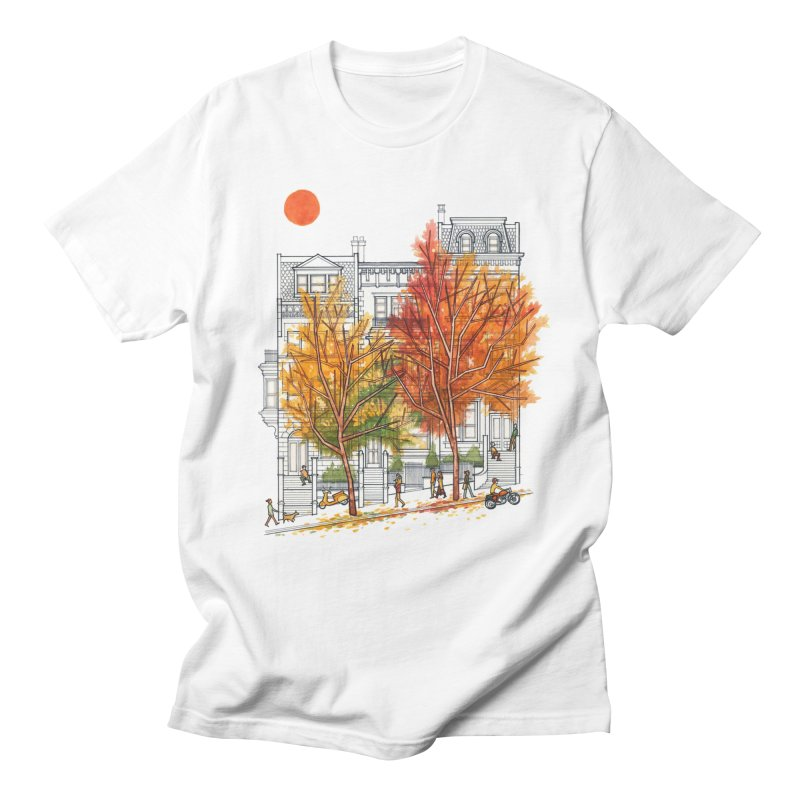 Autumn Cityscape Men's T-Shirt by Sheaffer's Artist Shop