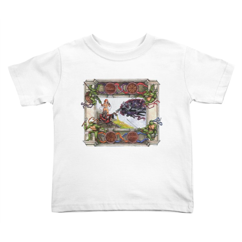 The Creation of Awesome Kids Toddler T-Shirt by Sheaffer's Artist Shop