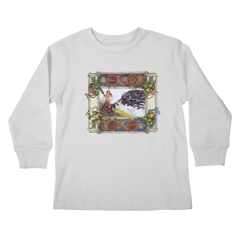 The Creation of Awesome Kids Longsleeve T-Shirt by Sheaffer's Artist Shop