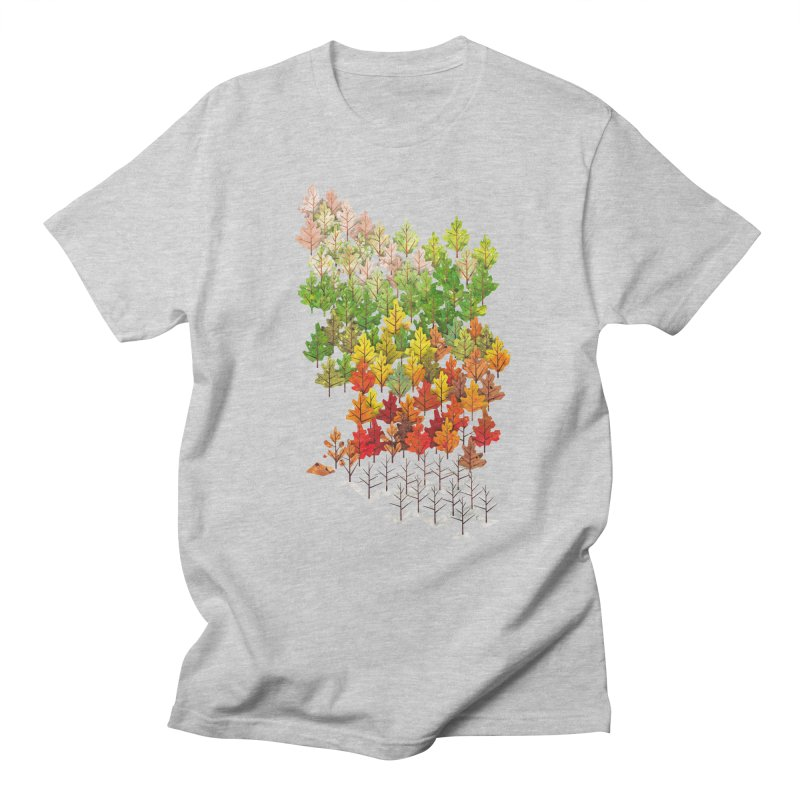 Seasons in Men's T-shirt Heather Grey by Sheaffer's Artist Shop