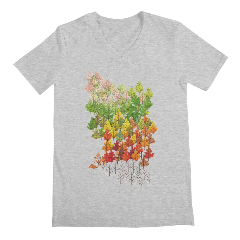 Seasons Men's V-Neck by Sheaffer's Artist Shop