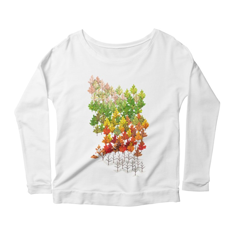 Seasons Women's Longsleeve Scoopneck  by Sheaffer's Artist Shop