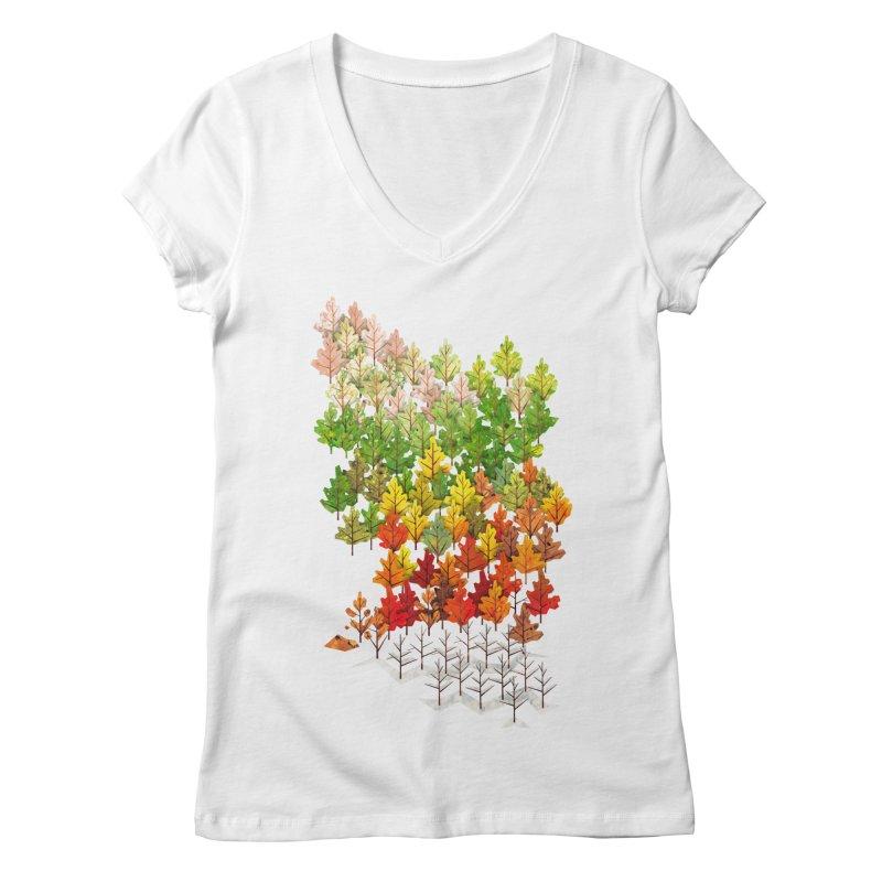 Seasons Women's V-Neck by Sheaffer's Artist Shop