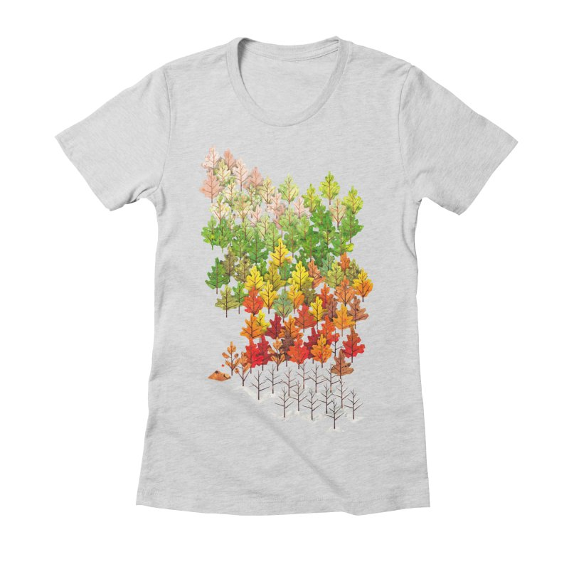 Seasons Women's Fitted T-Shirt by Sheaffer's Artist Shop