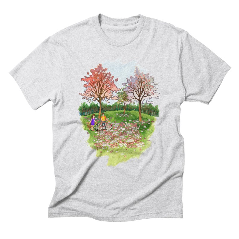 Perfect Place for a Picnic Men's Triblend T-Shirt by Sheaffer's Artist Shop