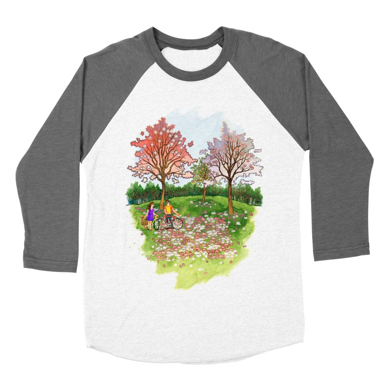 Perfect Place for a Picnic Men's Baseball Triblend T-Shirt by Sheaffer's Artist Shop