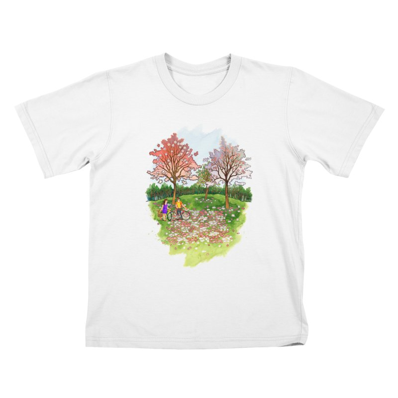 Perfect Place for a Picnic Kids T-shirt by Sheaffer's Artist Shop
