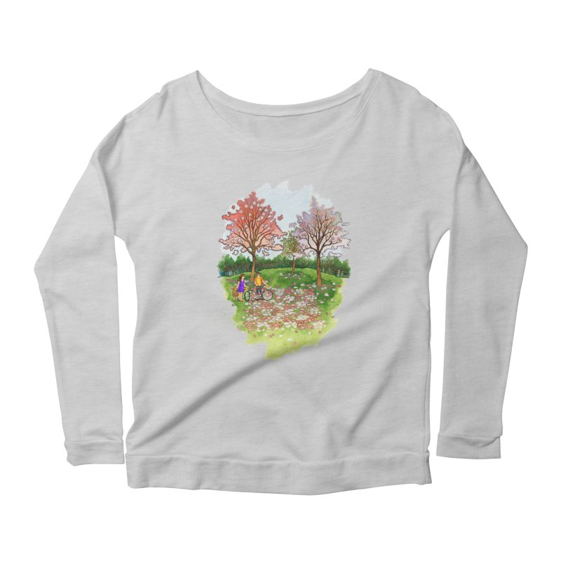 Perfect Place for a Picnic Women's Longsleeve Scoopneck  by Sheaffer's Artist Shop