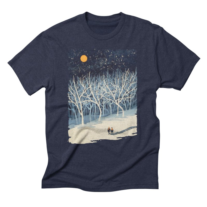 If on a Winter's Night... Men's Triblend T-Shirt by Sheaffer's Artist Shop