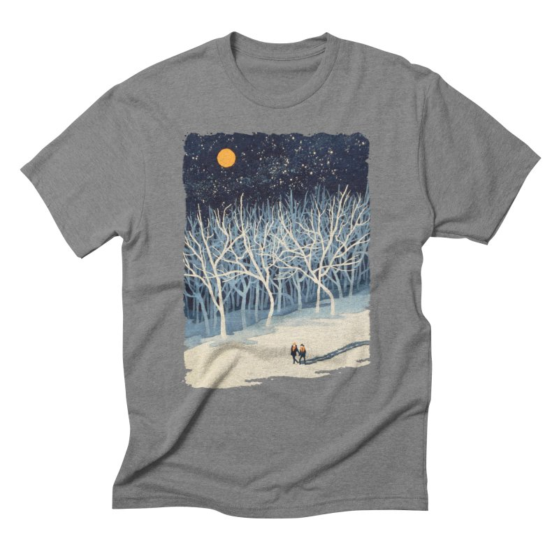 If on a Winter's Night... Men's Triblend T-Shirt by Sheaffer's Artist Shop