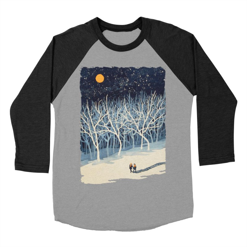 If on a Winter's Night... Men's Baseball Triblend T-Shirt by Sheaffer's Artist Shop