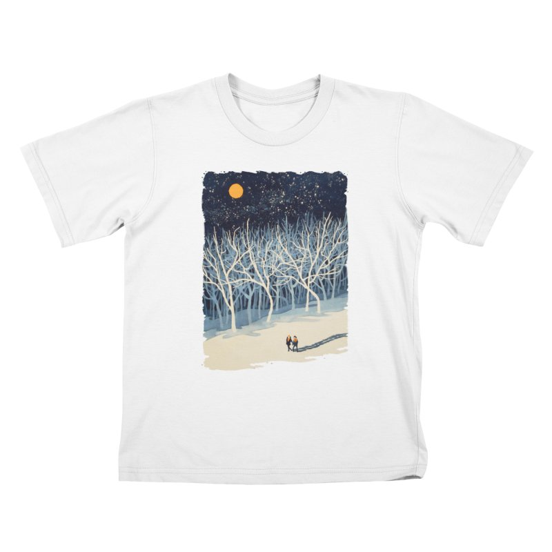 If on a Winter's Night... Kids T-shirt by Sheaffer's Artist Shop