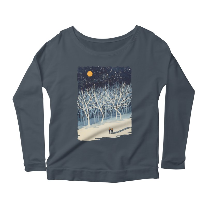 If on a Winter's Night... Women's Longsleeve Scoopneck  by Sheaffer's Artist Shop