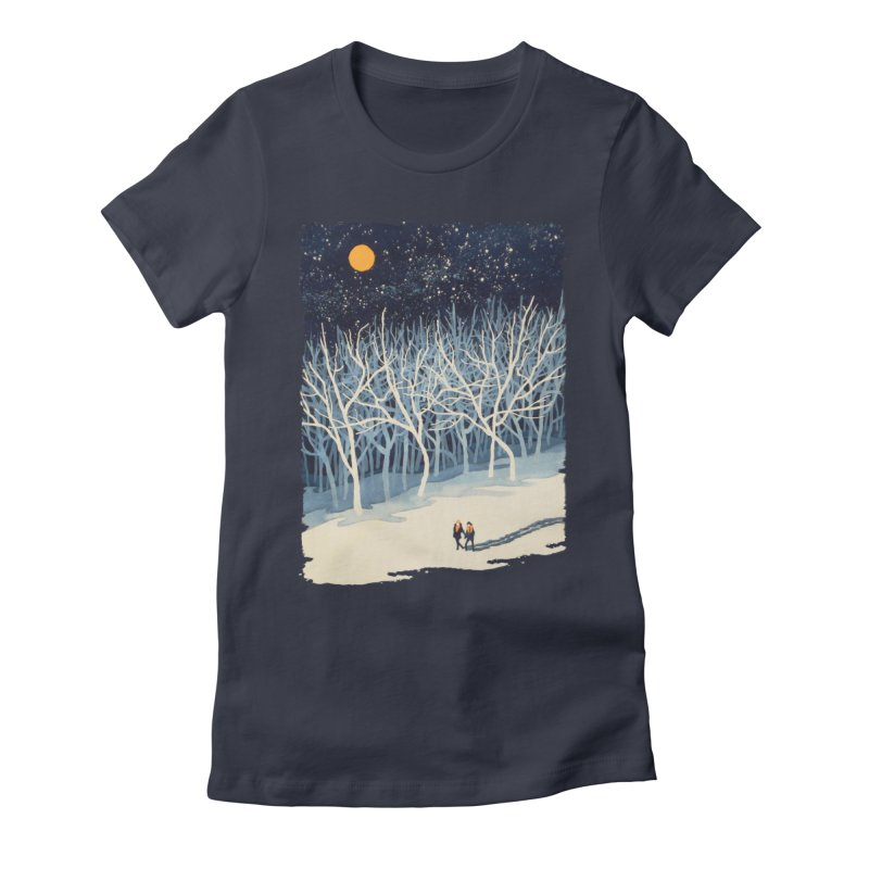 If on a Winter's Night... Women's Fitted T-Shirt by Sheaffer's Artist Shop