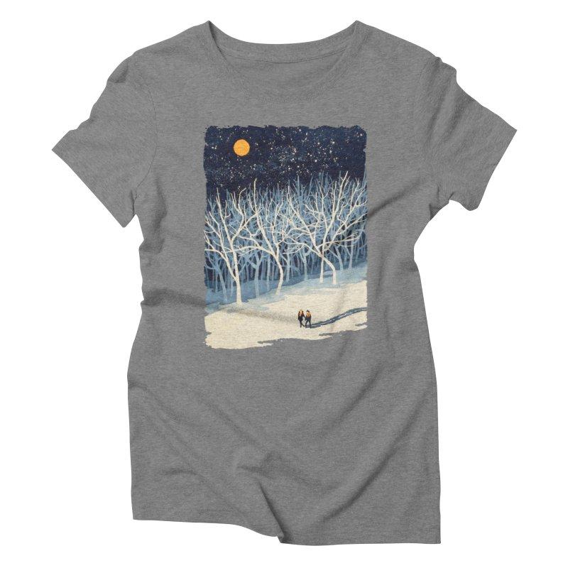 If on a Winter's Night... Women's Triblend T-shirt by Sheaffer's Artist Shop