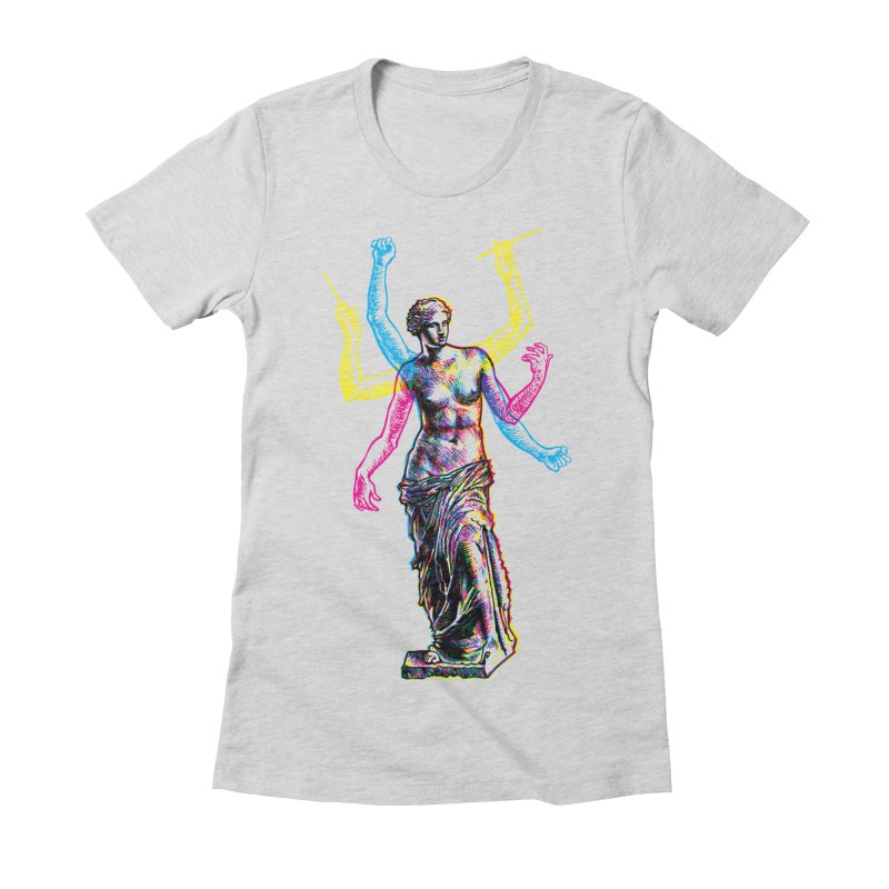 Made of Rock Women's Fitted T-Shirt by Sheaffer's Artist Shop
