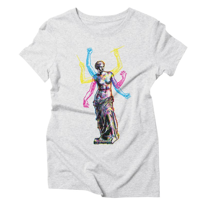 Made of Rock Women's Triblend T-Shirt by Sheaffer's Artist Shop