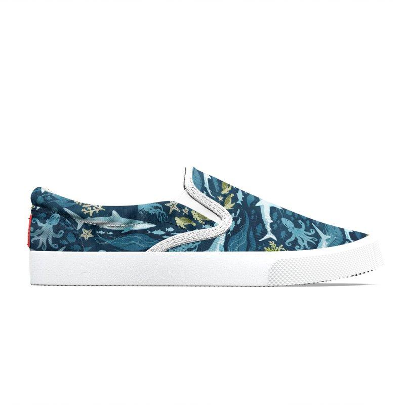 Shark Ocean Men's Shoes by Shedd Aquarium's Artist Shop