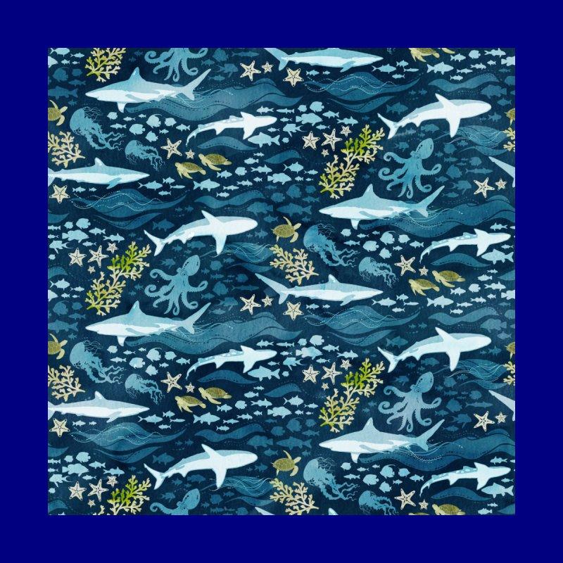 Shark Ocean Men's Zip-Up Hoody by Shedd Aquarium's Artist Shop