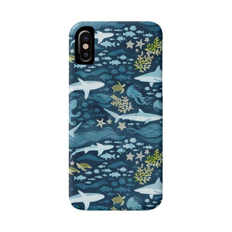 Shark Ocean in iPhone X / XS Phone Case Slim by Shedd Aquarium's Artist Shop