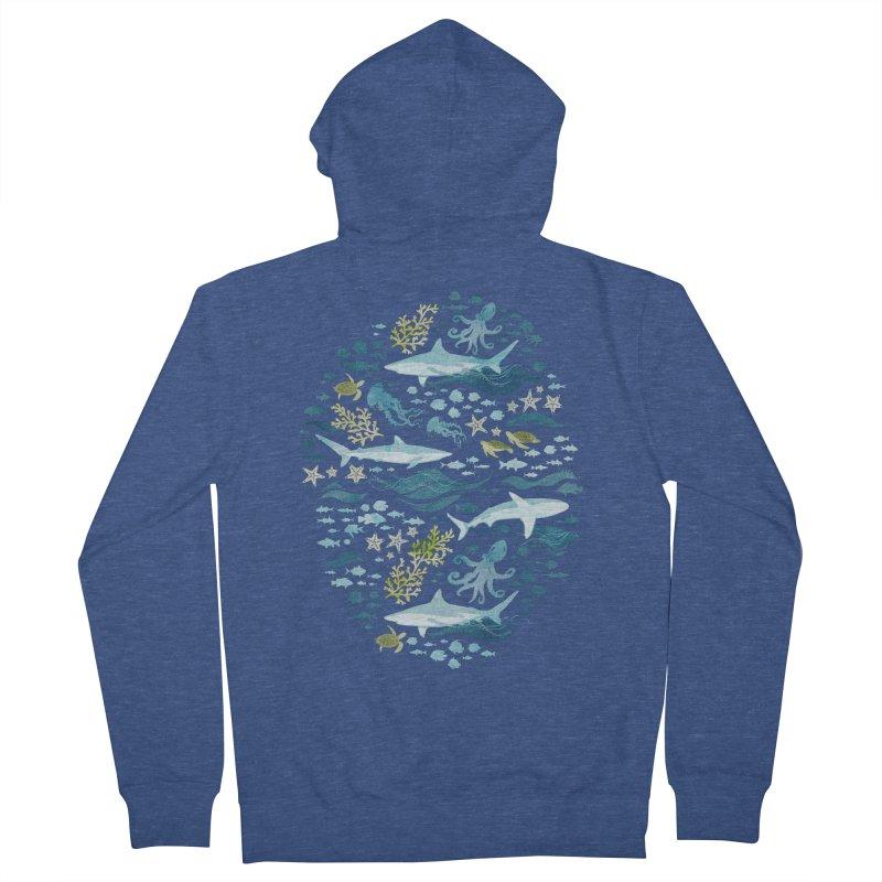 Shark Ocean Women's French Terry Zip-Up Hoody by Shedd Aquarium's Artist Shop