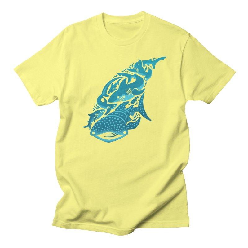 Shark Shapes Men's T-Shirt by Shedd Aquarium's Artist Shop