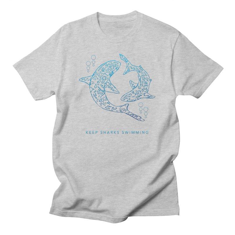 Sharks Make The Ocean Go Around Men's T-Shirt by Shedd Aquarium's Artist Shop