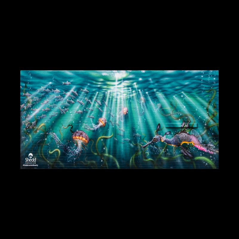 Jason Brammer - Sea Nettles Mural Design Accessories Bag by Shedd Aquarium's Artist Shop