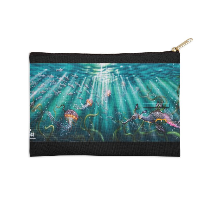 Jason Brammer - Sea Nettles Mural Design Accessories Zip Pouch by Shedd Aquarium's Artist Shop