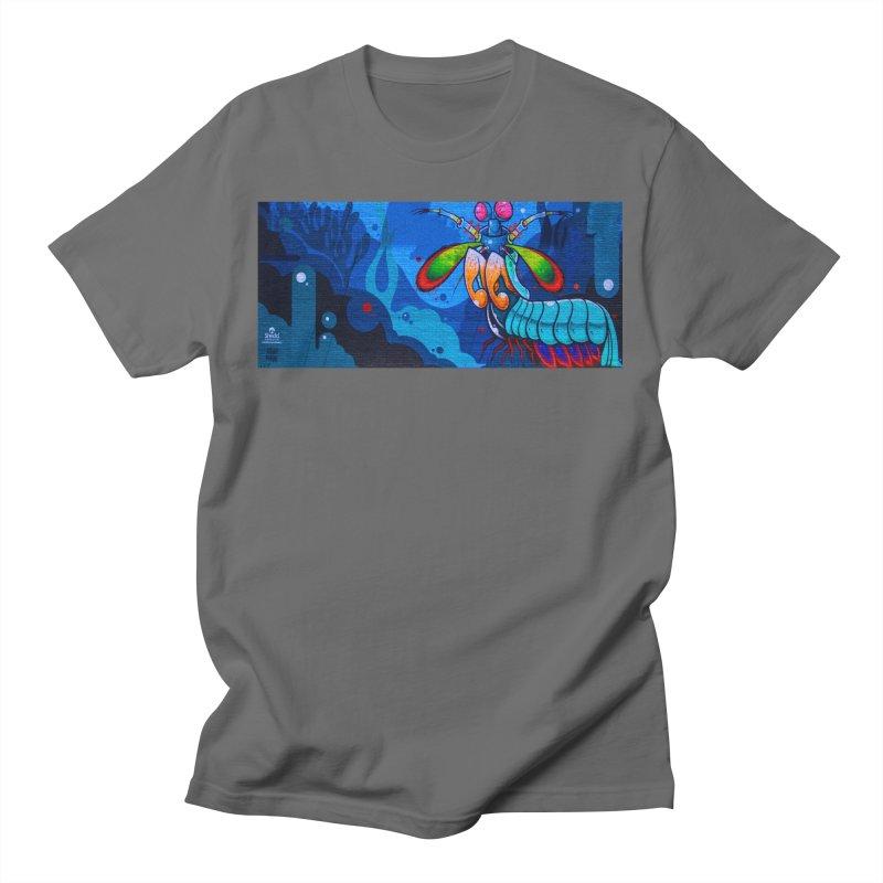Anthony Lewellen - Mantis Shrimp Mural Design Men's T-Shirt by Shedd Aquarium's Artist Shop