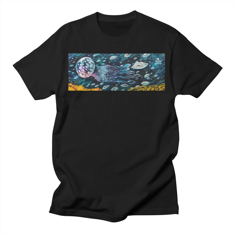 Caesar Perez - Moon Jellies Mural Design Men's T-Shirt by Shedd Aquarium's Artist Shop