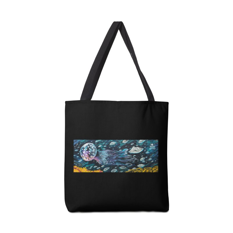Caesar Perez - Moon Jellies Mural Design Accessories Bag by Shedd Aquarium's Artist Shop