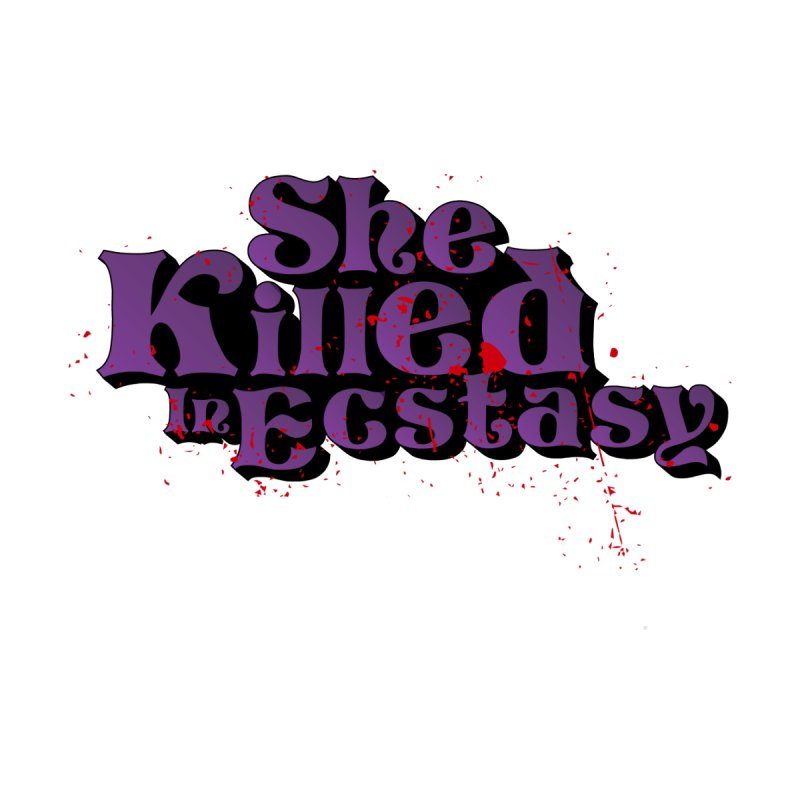 She Killed In Ecstasy Bloody  - Logo Tee Purple (Light Apparel) Accessories Beach Towel by She Killed In Ecstasy