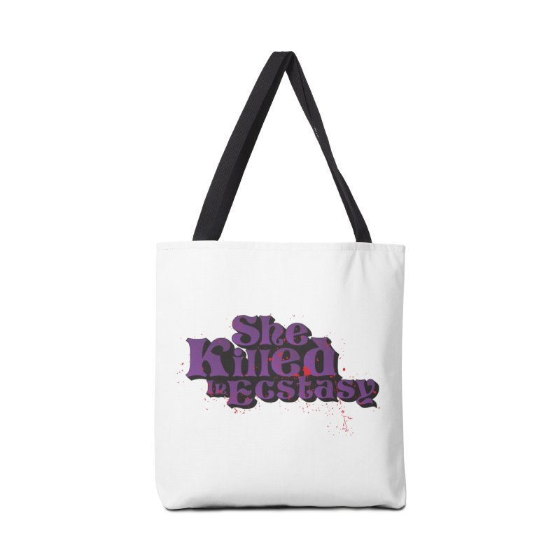 She Killed In Ecstasy Bloody  - Logo Tee Purple (Light Apparel) Accessories Tote Bag Bag by She Killed In Ecstasy