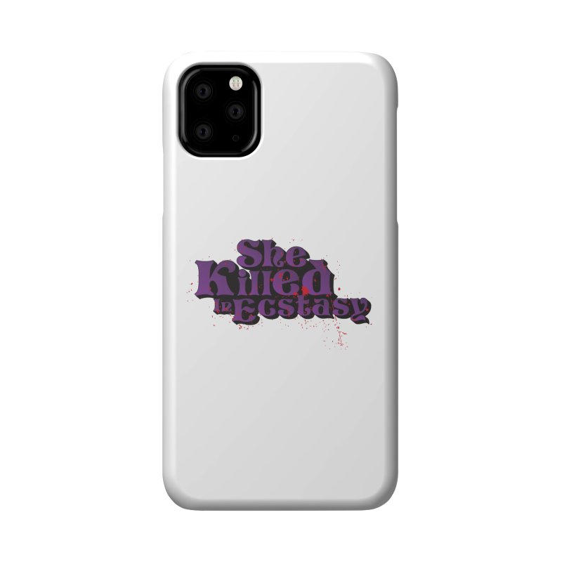 She Killed In Ecstasy Bloody  - Logo Tee Purple (Light Apparel) Accessories Phone Case by She Killed In Ecstasy