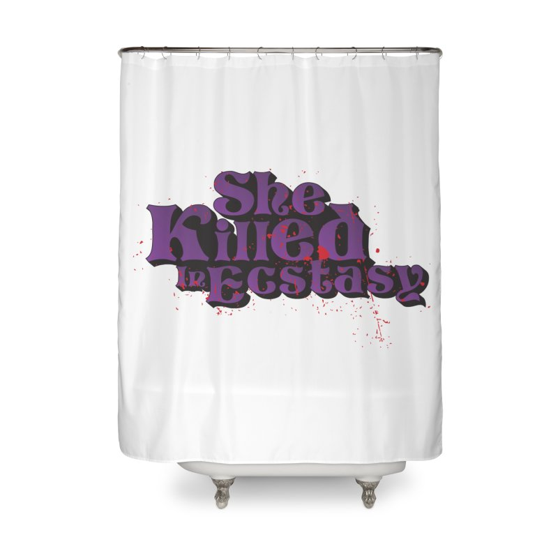 She Killed In Ecstasy Bloody  - Logo Tee Purple (Light Apparel) Home Shower Curtain by She Killed In Ecstasy
