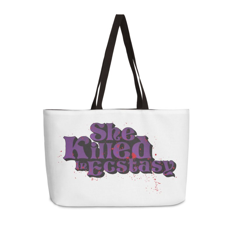 She Killed In Ecstasy Bloody  - Logo Tee Purple (Light Apparel) Accessories Weekender Bag Bag by She Killed In Ecstasy