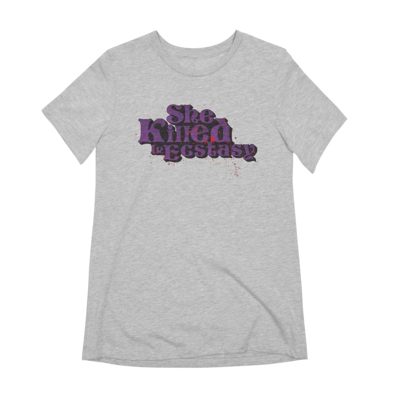 She Killed In Ecstasy Bloody  - Logo Tee Purple (Light Apparel) Women's T-Shirt by She Killed In Ecstasy