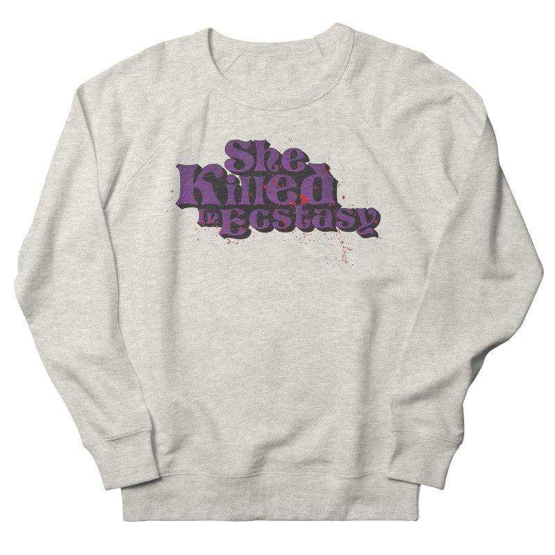 She Killed In Ecstasy Bloody  - Logo Tee Purple (Light Apparel) Men's Sweatshirt by She Killed In Ecstasy