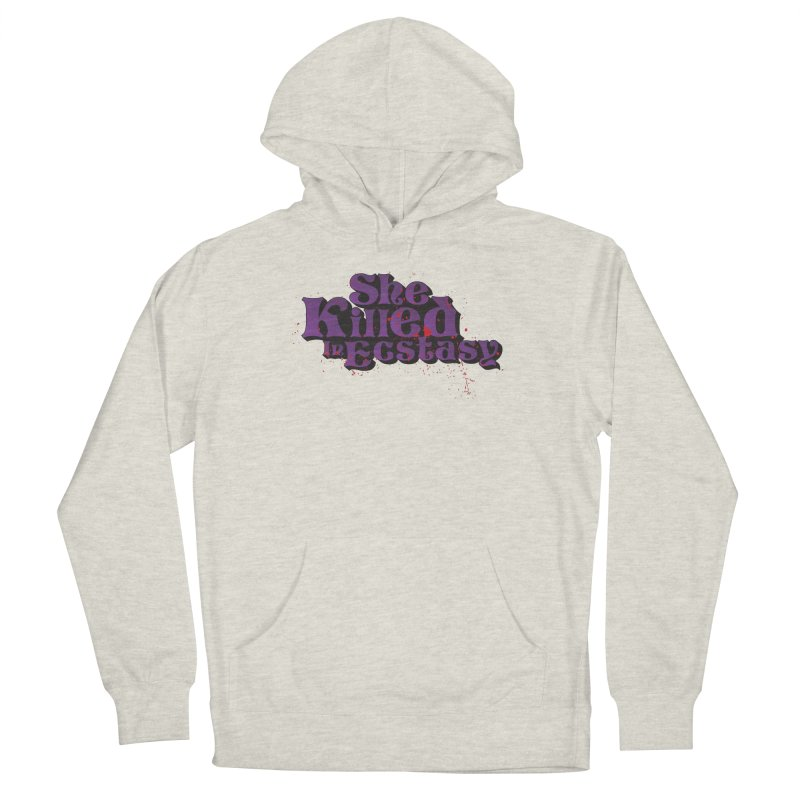 She Killed In Ecstasy Bloody  - Logo Tee Purple (Light Apparel) Women's Pullover Hoody by She Killed In Ecstasy