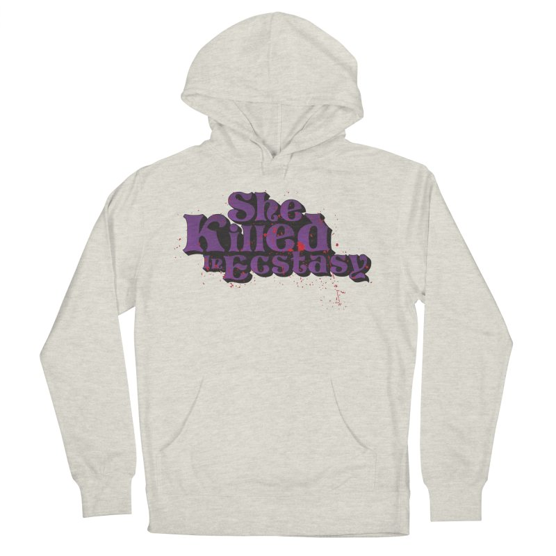 She Killed In Ecstasy Bloody  - Logo Tee Purple (Light Apparel) Women's French Terry Pullover Hoody by She Killed In Ecstasy