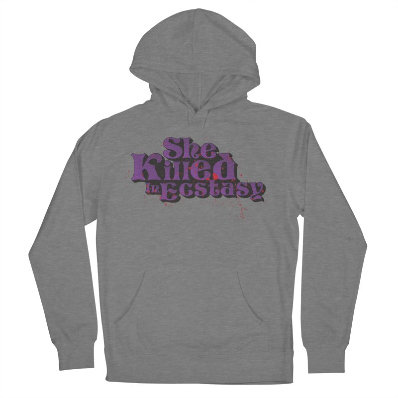 She Killed In Ecstasy Bloody  - Logo Tee Purple (Light Apparel) Men's French Terry Pullover Hoody by She Killed In Ecstasy