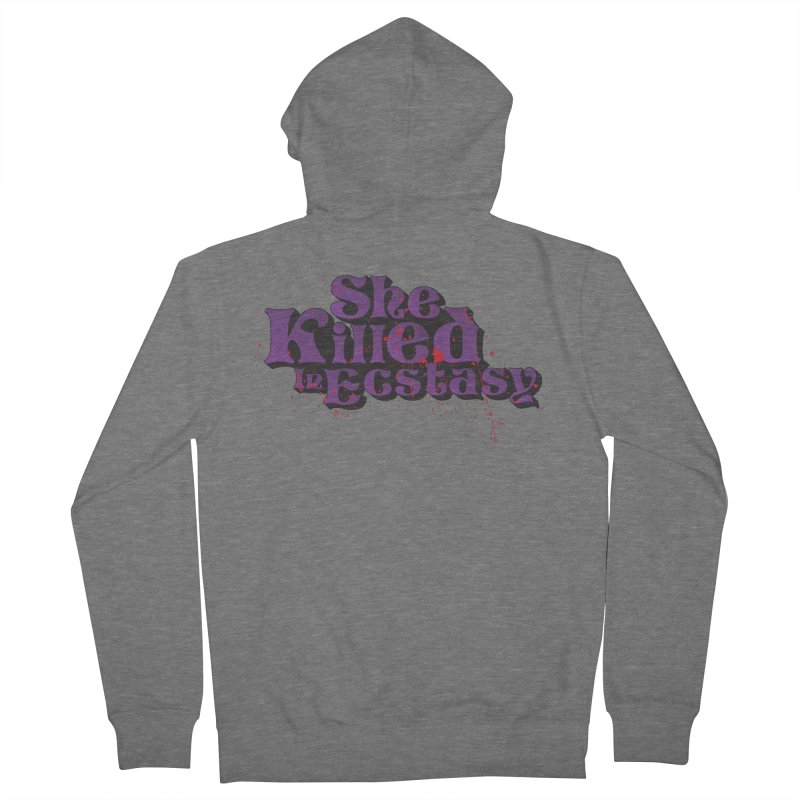 She Killed In Ecstasy Bloody  - Logo Tee Purple (Light Apparel) Men's Zip-Up Hoody by She Killed In Ecstasy