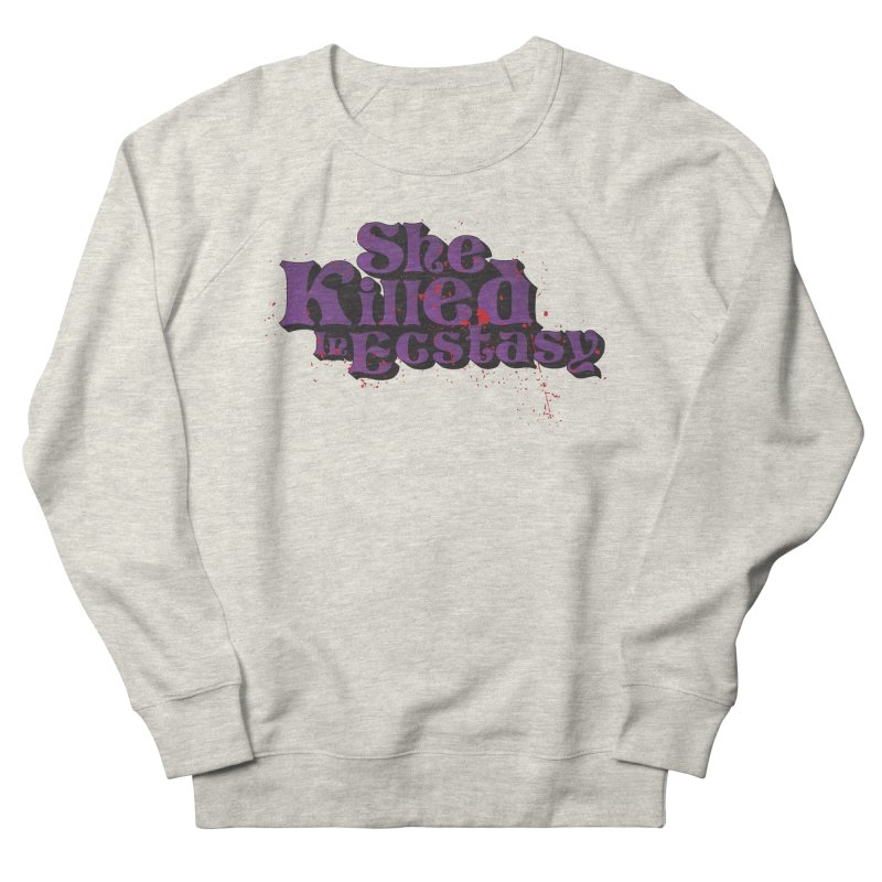 She Killed In Ecstasy Bloody  - Logo Tee Purple (Light Apparel) Men's Sweatshirt by She Killed In Ecstasy