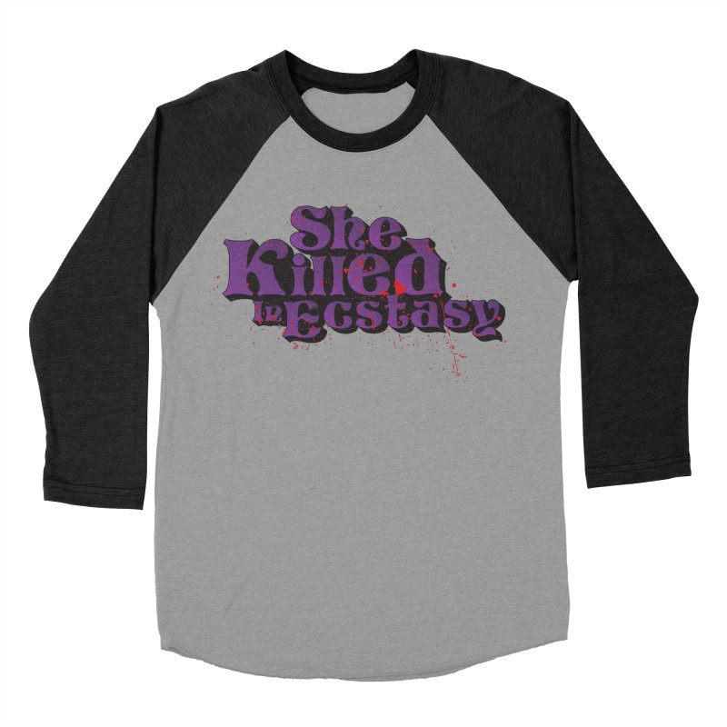 She Killed In Ecstasy Bloody  - Logo Tee Purple (Light Apparel) Men's Baseball Triblend Longsleeve T-Shirt by She Killed In Ecstasy