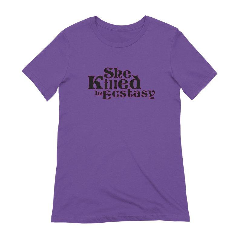 SKIE - Black Logo Women's Extra Soft T-Shirt by She Killed In Ecstasy