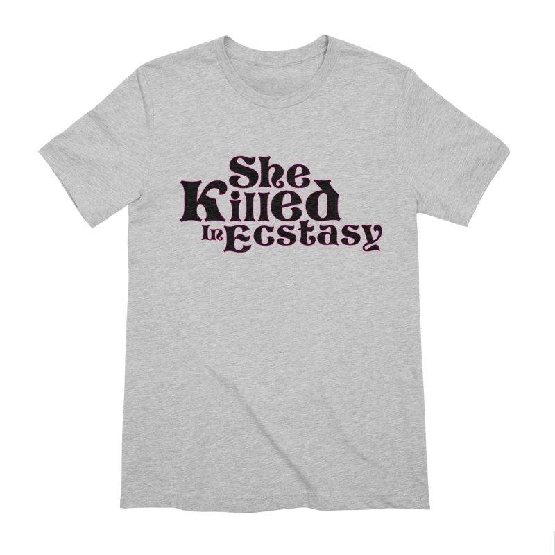 SKIE - Black Logo Men's Extra Soft T-Shirt by She Killed In Ecstasy