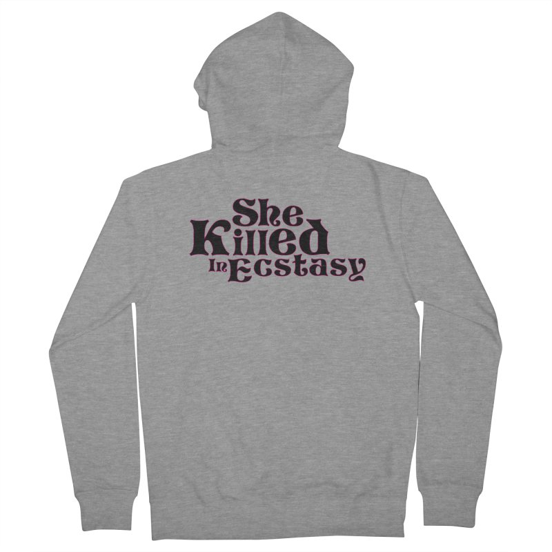 SKIE - Black Logo Men's French Terry Zip-Up Hoody by She Killed In Ecstasy