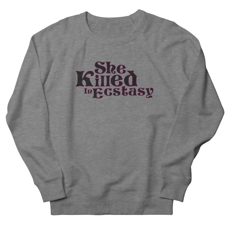 SKIE - Black Logo Men's French Terry Sweatshirt by She Killed In Ecstasy