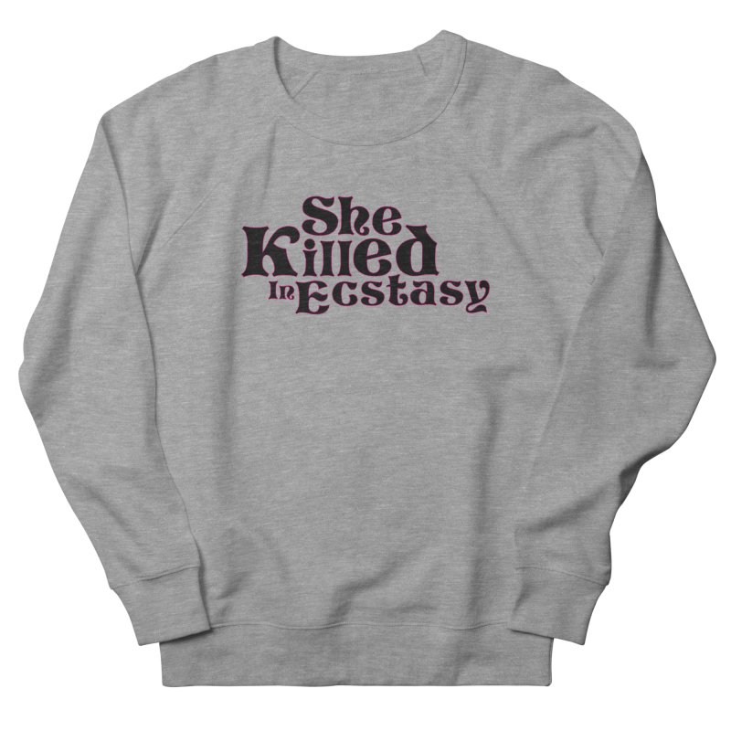 SKIE - Black Logo Men's French Terry Sweatshirt by She Killed In Ecstasy
